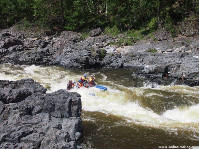 Порог Чертики - река Урик