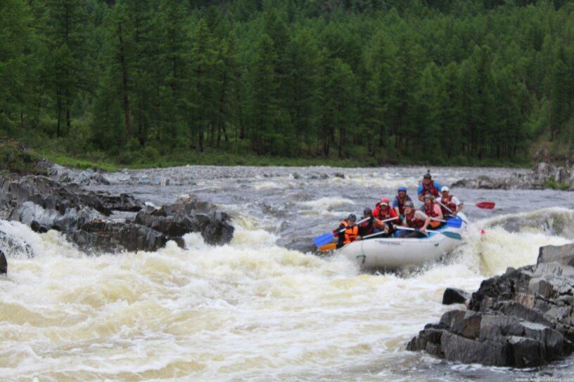 Река Диби сплав водопад