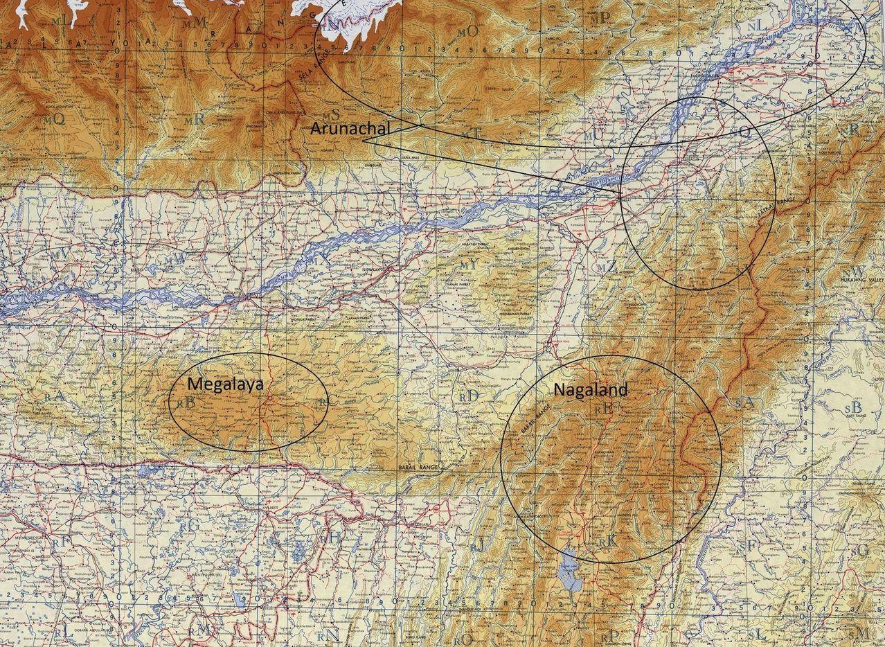 Северо Восток Индии - регионы рыбалки