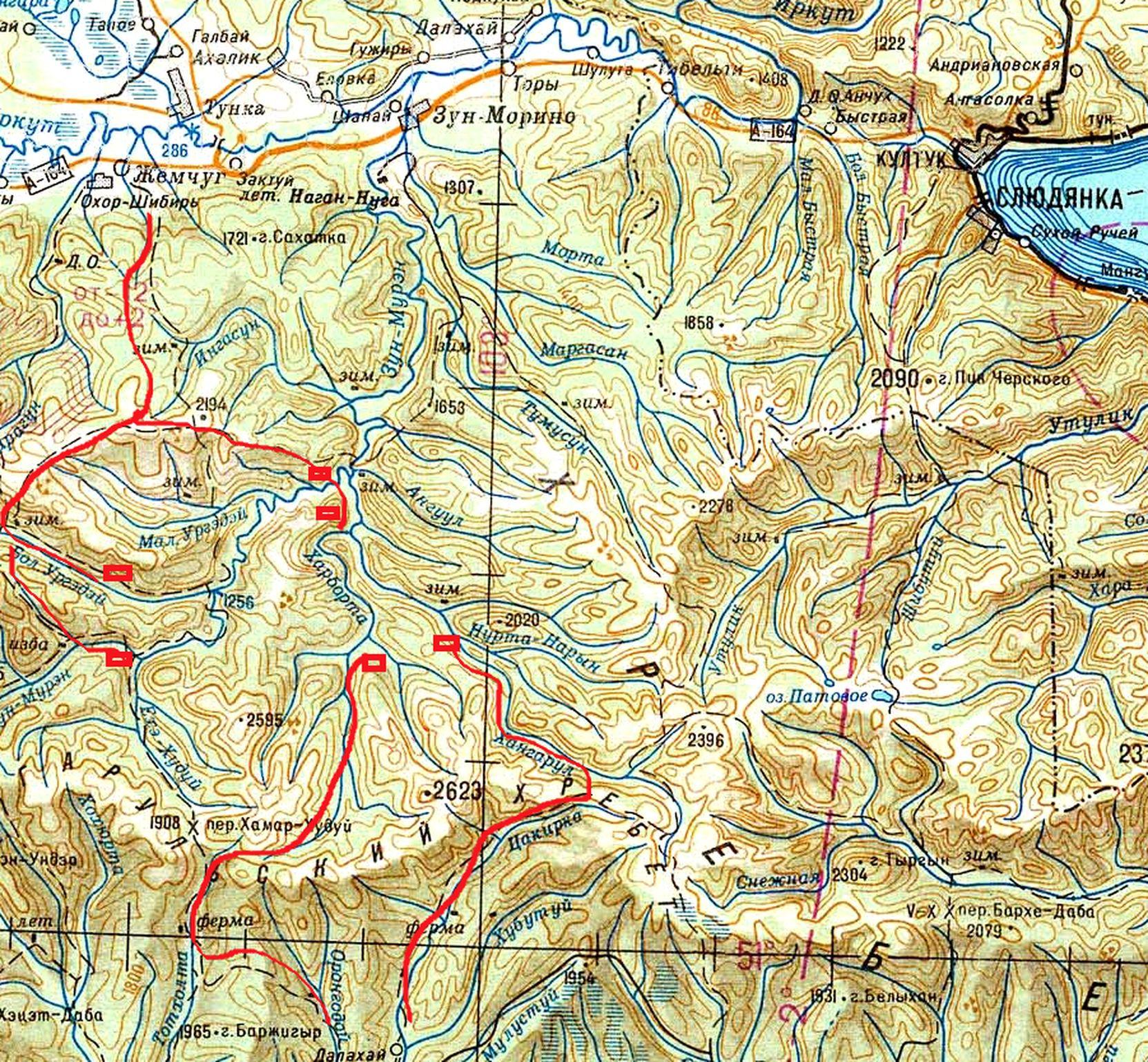 Маршруты реки Зун Мурин и Хангарул