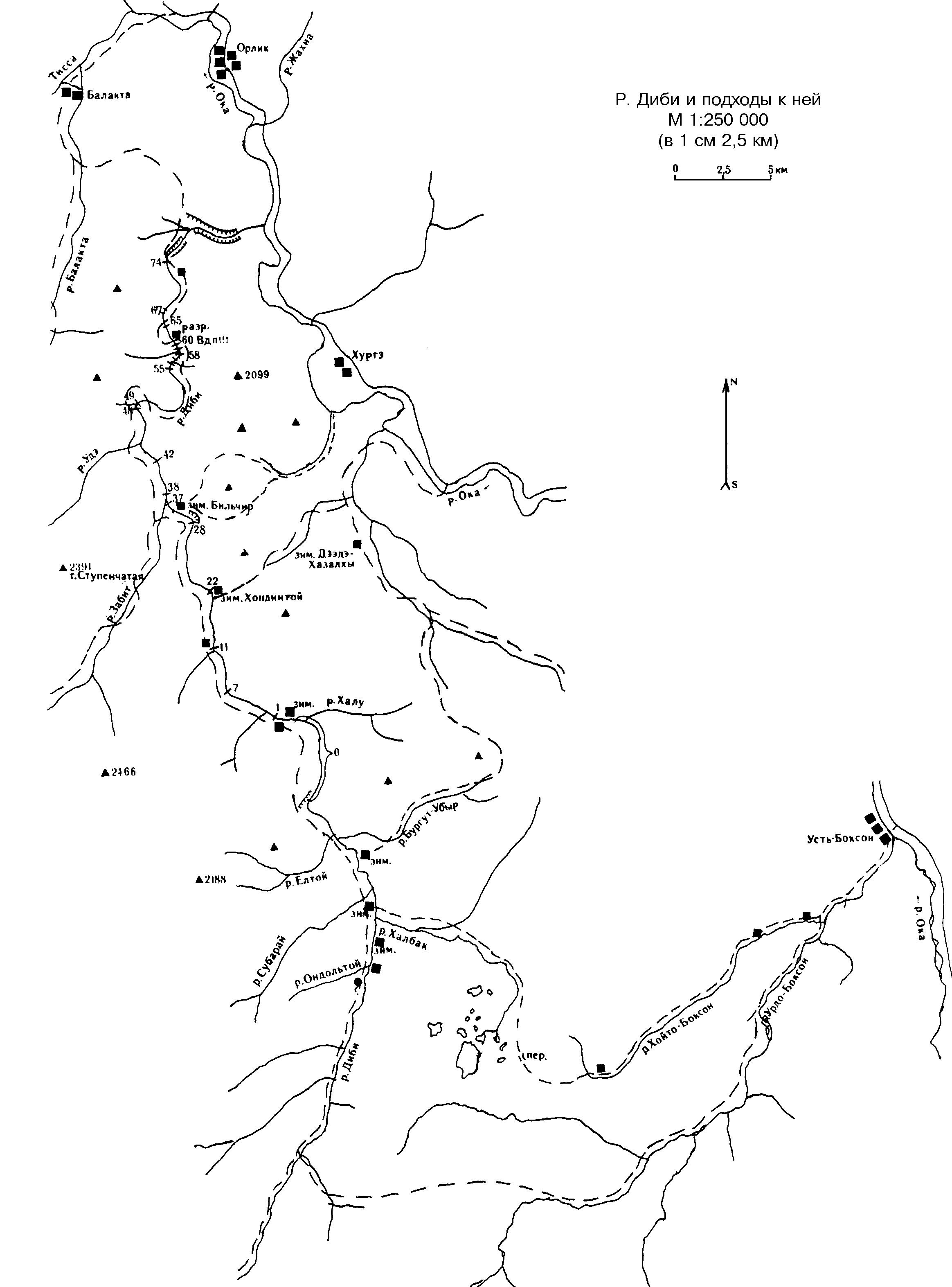 Диби схема реки