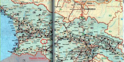 Карта Грузии. Перевал Зекари