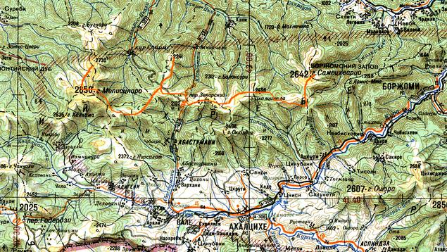 Перевал Зекари карта.
